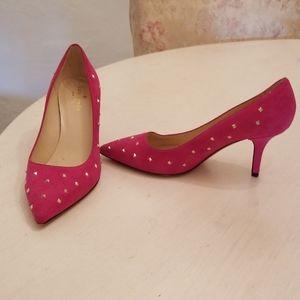"Hot pink 2"" heel Kate Spade pumps"